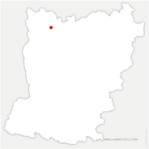 carte de localisation de Colombiers-du-Plessis