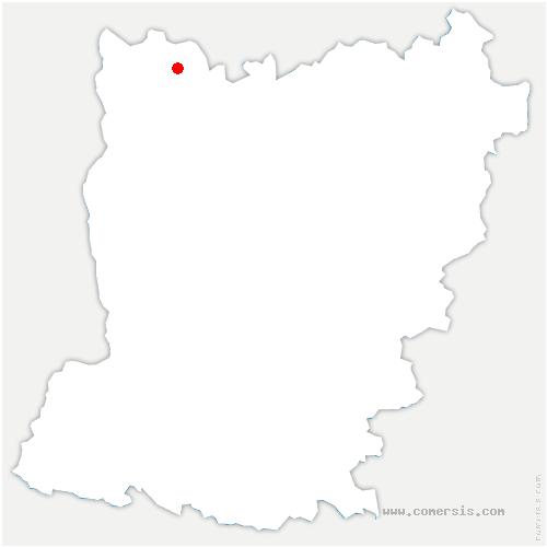 carte de localisation de Désertines