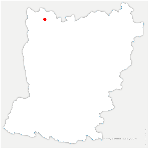 carte de localisation de Dorée