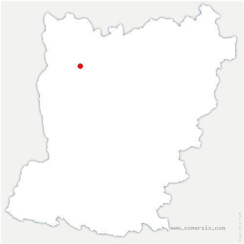 carte de localisation de Ernée