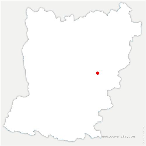 carte de localisation de Évron