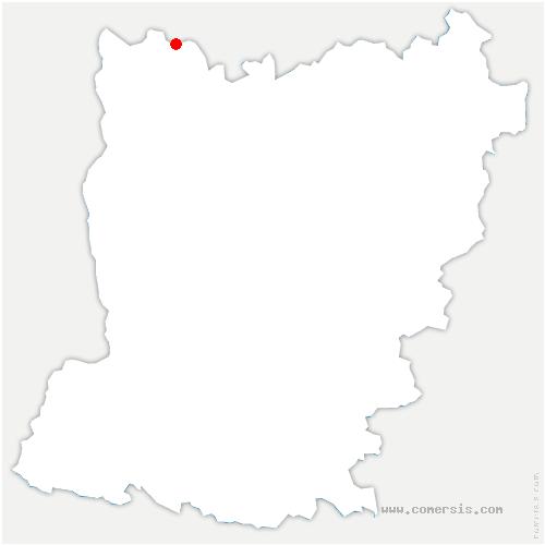 carte de localisation de Fougerolles-du-Plessis