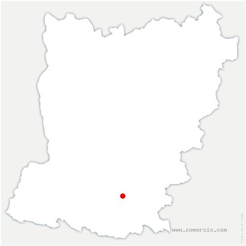 carte de localisation de Fromentières