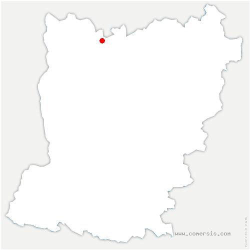 carte de localisation de Gorron