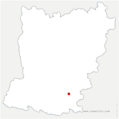 carte de localisation de Grez-en-Bouère