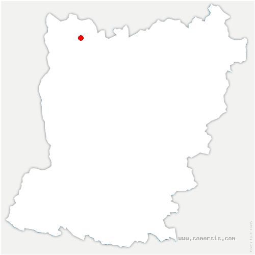 carte de localisation de Hercé