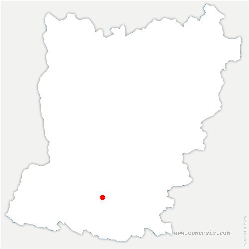carte de localisation de La Roche-Neuville
