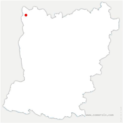 carte de localisation de Landivy