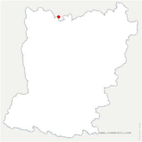 carte de localisation de Lesbois