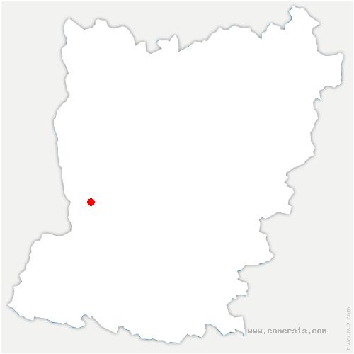 carte de localisation de Loiron-Ruillé