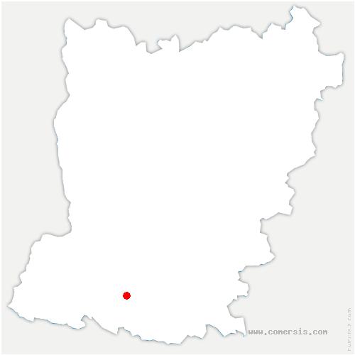 carte de localisation de Marigné-Peuton