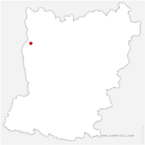 carte de localisation de Pellerine