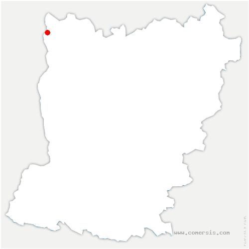 carte de localisation de Pontmain