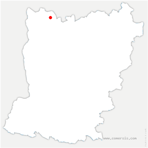 carte de localisation de Saint-Aubin-Fosse-Louvain