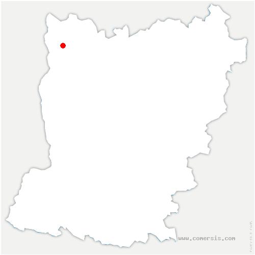 carte de localisation de Saint-Berthevin-la-Tannière