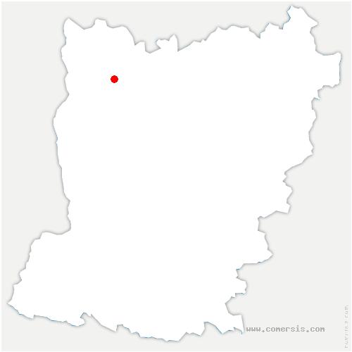 carte de localisation de Saint-Denis-de-Gastines