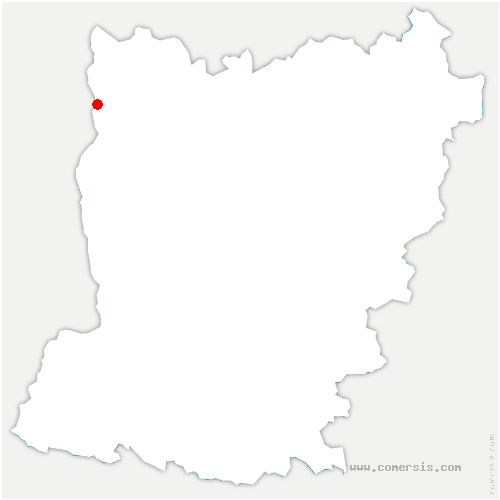 carte de localisation de Saint-Ellier-du-Maine