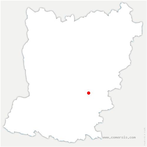 carte de localisation de Saint-Georges-le-Fléchard