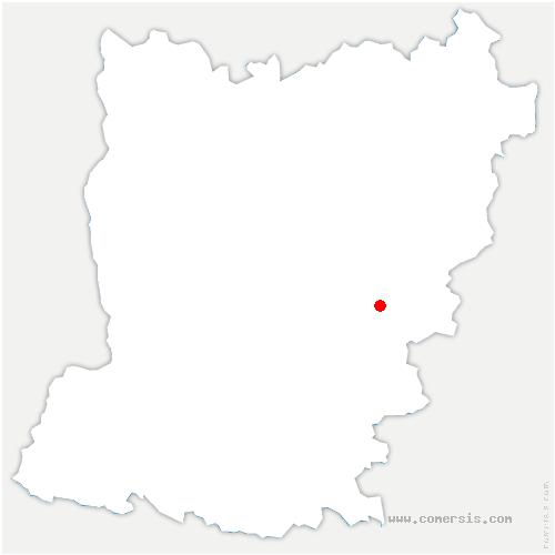 carte de localisation de Sainte-Suzanne-et-Chammes