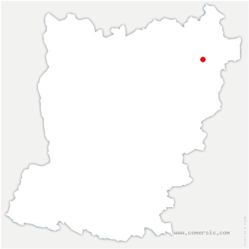 carte de localisation de Villaines-la-Juhel