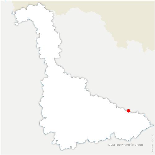 carte de localisation de Avricourt