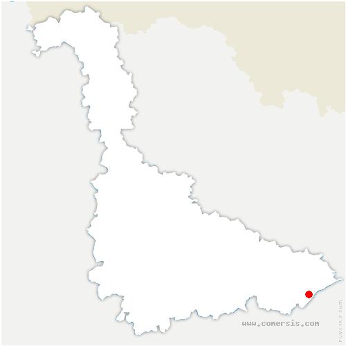 carte de localisation de Badonviller