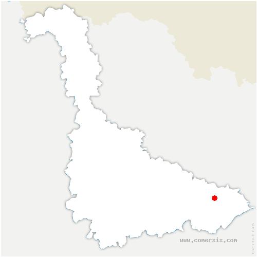 carte de localisation de Blâmont