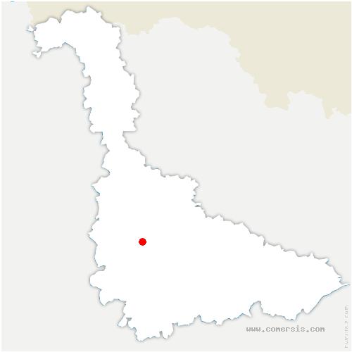 carte de localisation de Bois-de-Haye