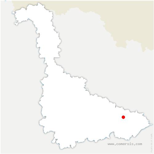 carte de localisation de Chazelles-sur-Albe