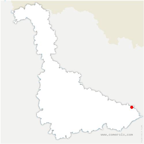 carte de localisation de Cirey-sur-Vezouze
