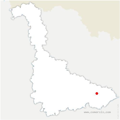 carte de localisation de Domèvre-sur-Vezouze