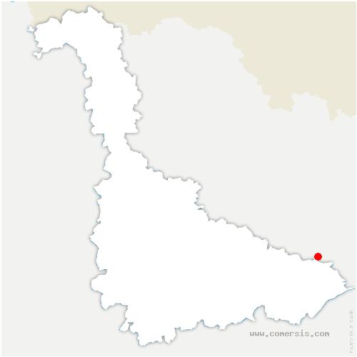 carte de localisation de Frémonville