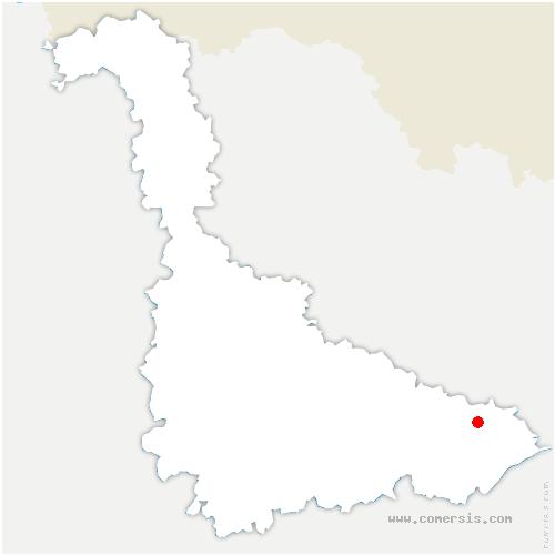 carte de localisation de Harbouey