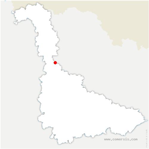 carte de localisation de Onville