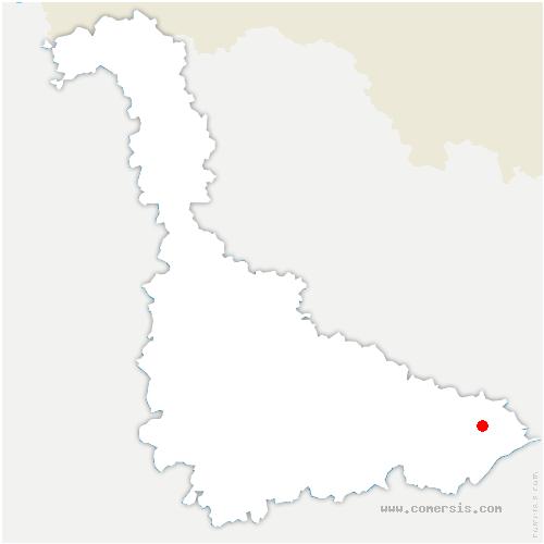 carte de localisation de Parux