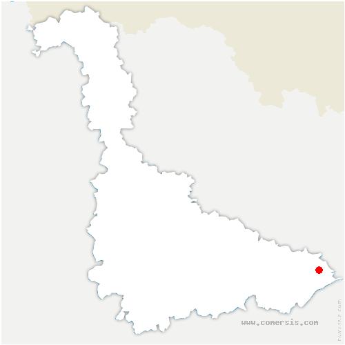 carte de localisation de Petitmont
