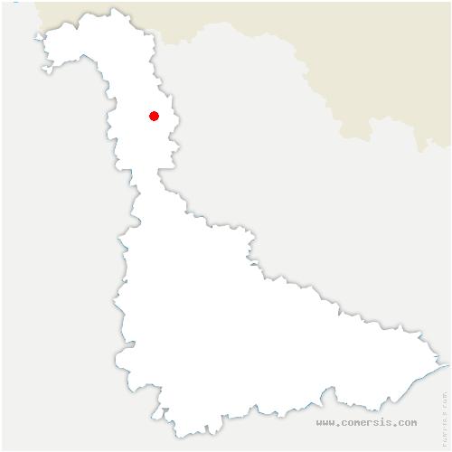 carte de localisation de Val de Briey