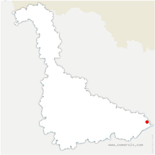 carte de localisation de Val-et-Châtillon