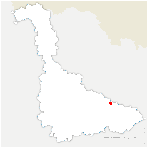 carte de localisation de Vaucourt