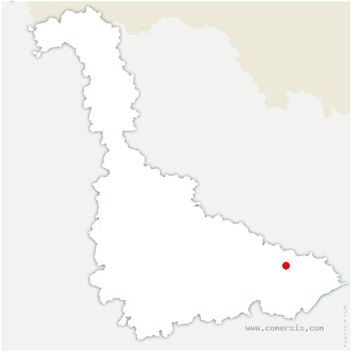 carte de localisation de Verdenal