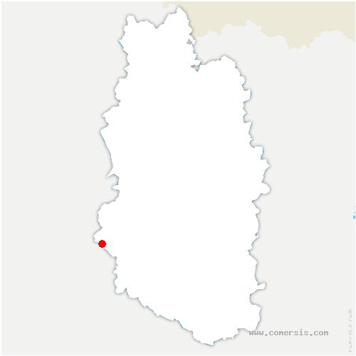 carte de localisation de Andernay