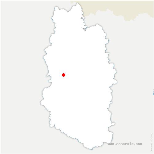 carte de localisation de Autrécourt-sur-Aire
