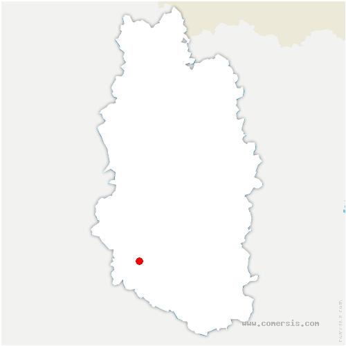 carte de localisation de Bazincourt-sur-Saulx