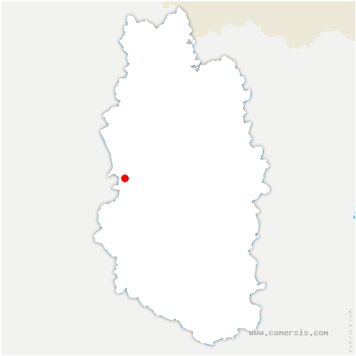 carte de localisation de Beaulieu-en-Argonne