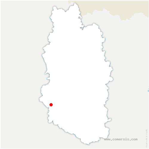 carte de localisation de Beurey-sur-Saulx