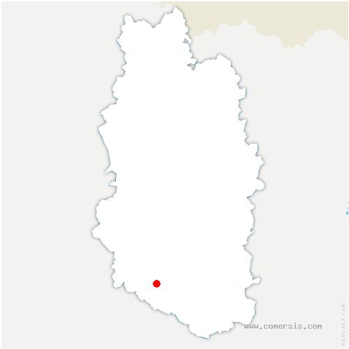 carte de localisation de Bouchon-sur-Saulx