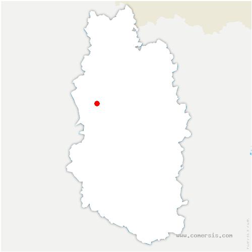carte de localisation de Brabant-en-Argonne
