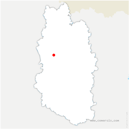 carte de localisation de Brocourt-en-Argonne
