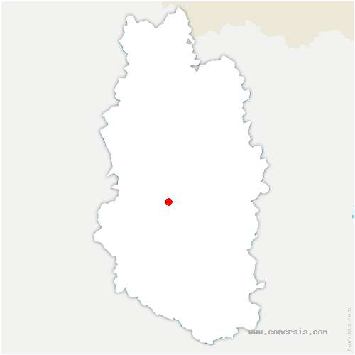 carte de localisation de Chaumont-sur-Aire