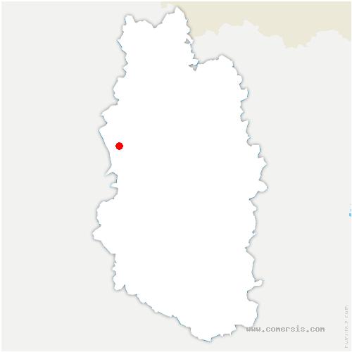 carte de localisation de Clermont-en-Argonne
